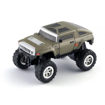 Mini monster truck - zelený RC model auta