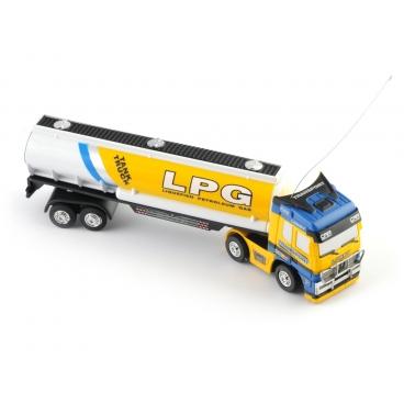 RC kamion cisterna na LPG žlutá