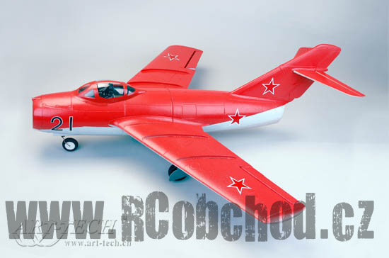 RC letadlo MIG-15, 4ch, 2,4Ghz STŘÍDAVÝ MOTOR, ART-TECH