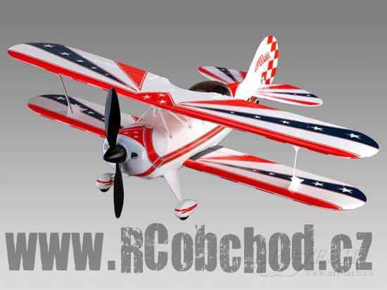 RC letadlo Pitts, 4ch, 2,4Ghz STŘÍDAVÝ MOTOR, ART-TECH, + PC simulátor