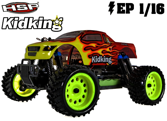 HSP Kidking 1/16 RC model auta - monster truck