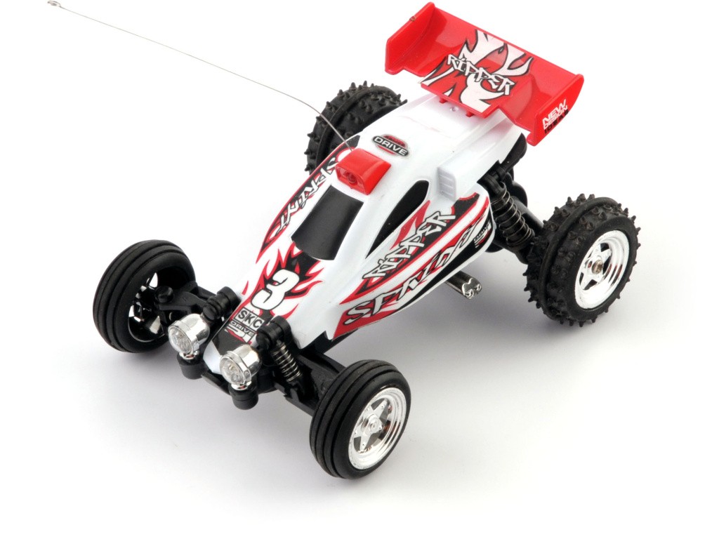 Mini buggy - bílá RC model auta