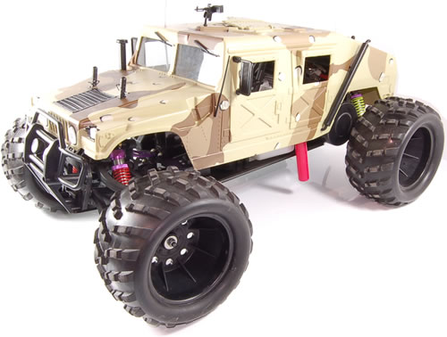 RC auto Monster truck 1/5, benzín natural 95, Hummer, Ford,